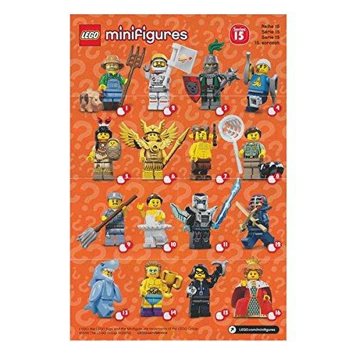 レゴ ミニフィギュア シリーズ15 LEGO minifigures #71011 全16種フルコンプセット ミニフィグ ブロック 積み木   B01AOZP8HK