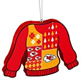 Forever Collectibles Kansas City Chiefs Official NFL 5.5 inch Foam Ugly Sweater Christmas Ornament by 239746