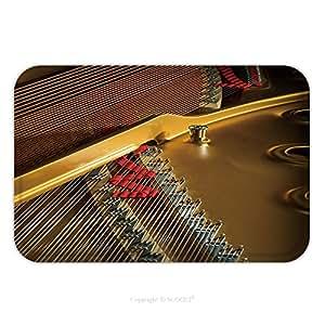 Franela de microfibra antideslizante suela de goma suave absorbente Felpudo alfombra alfombra alfombra Interior de un concierto Piano profundidad de campo 264220562para interior/exterior/cuarto de baño/cocina/Estaciones de trabajo