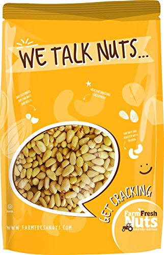 Natural Raw Shelled Pine Nuts Pignolias BRAND NEW PRODUCT by Farm Fresh Nuts (3 - Pine Shell Nuts