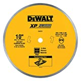 DEWALT DW4761 10-Inch Wet Cutting Continuous Rim Saw Blade with 5/8-Inch Arbor for Ceramic or Tile