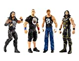 Karacter Box 4- Pack, WWE Tough Talkers 6'' Figure Action Collection- Seth Rollins, Roman Reigns, John Cena, Dean Ambrose