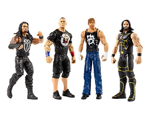 Karacter Box 4- Pack, WWE Tough Talkers 6'' Figure Action Collection- Seth Rollins, Roman Reigns, John Cena, Dean Ambrose by Karacter Box