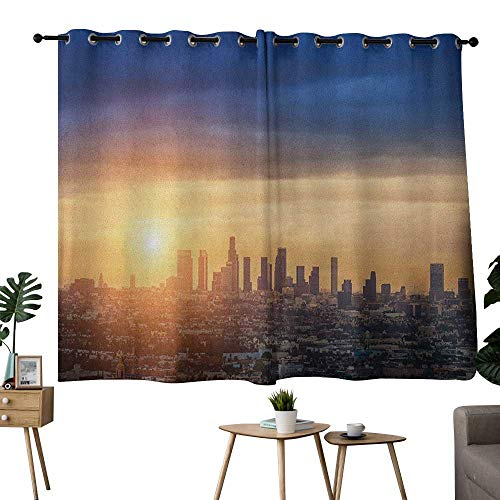 NUOMANAN Window Curtain Fabric City,Sunrise at Los for sale  Delivered anywhere in Canada
