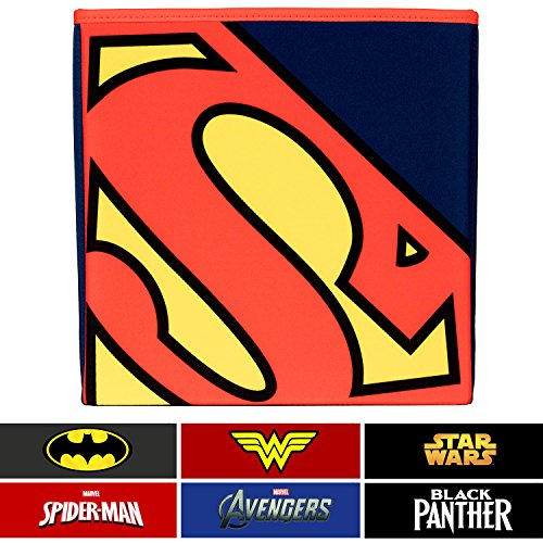 Everything Mary Superman Collapsible Storage Bin by DC Comics - Cube Organizer for Closet, Kids Bedroom Box, Playroom Chest - Foldable Home Decor Basket Container with Strong Handles and Design by Everything Mary (Image #8)