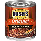 BUSH'S BEST Original Baked Beans, 8.3 Ounce Can, Plant-based Protein and Fiber, Low Fat, Gluten Free, Canned Baked Beans, Canned Beans