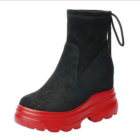 Hy Botas De La Mujer Primavera/Otoño Zapatos Casuales Zapatillas/Botas Gruesas De Fondo