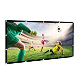 HiCool Projection Screen, 120 Inch Projector Screen 16:9 HD Foldable Portable Anti-Crease Projector Movies Screen for Outdoor Indoor Home Cinema Theater Presentation Support Front & Rear Projection