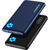 [2 Pack] INIU Portable Charger, Slimmest & Lightest Triple 3A USB C High-Speed 10000mAh Power Bank, Phone External…