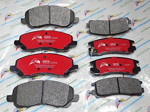 NEW 2 Sets Front & Rear Brake Pads Mitsubishi Eclipse Galant D866 & D383 by GES PARTS (Image #5)