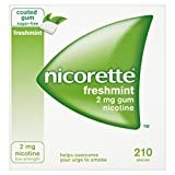 Nicorette Chewing Gum 2mg Freshmint - 210 Pieces