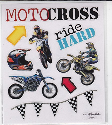 2 Sheets Stickers - Motocross Dirt Bikes ()