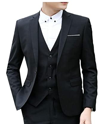 BingSai - Pantalón de Traje - para Hombre Negro Negro (24-28 ...