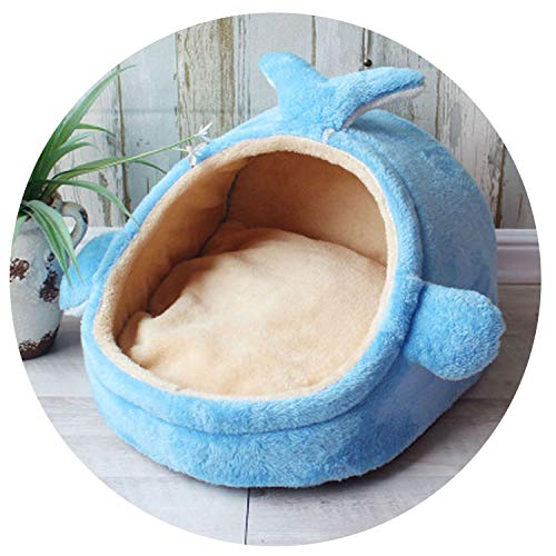 Pet Bed Dog House Kennel Puppy Cat Litter Bed Home Shape Nest Sofa Indoor Small Dogs Cats Cushion Removable Pillow Chihuahua Mat,7,M