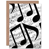 Musical Notes Sheet Music Greetings Card