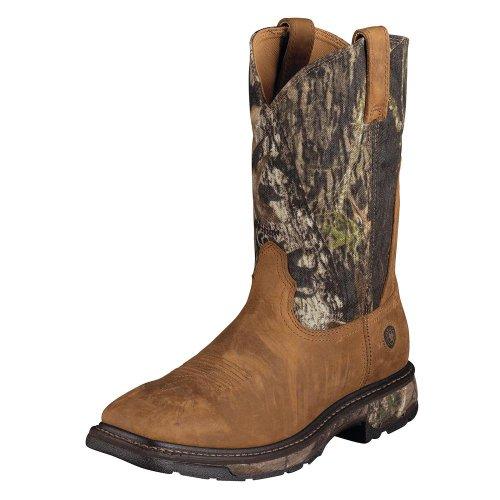 Ariat Mens Workhog Wide Square Toe Work Boot Invecchiato Bark