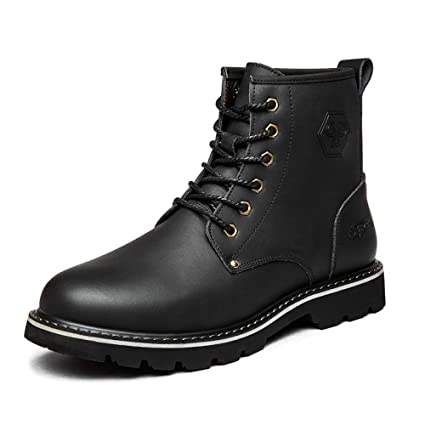 3fa62830af7 Amazon.com  DZX Mens Winter Outdoor Casual Leather Shoes British ...