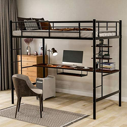 Metal Loft Bed Twin Size