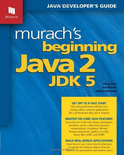 Download Murach's Beginning Java 2, JDK 5 pdf epub