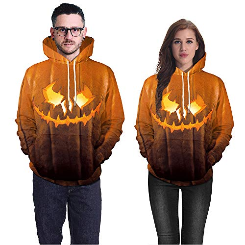 Halloween Mens Sweatshirt, KIKOY Evil Pumpkin Print Party Casual Hoodie Top Blouse -