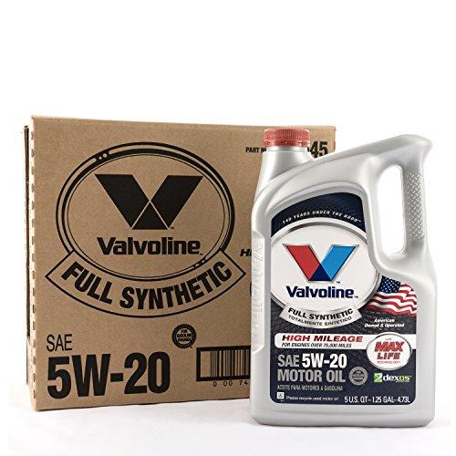 Valvoline 849645 5W-20 Full Synthetic Motor Oil (with MaxLife Technology), 480. Fluid_Ounces, 3 Pack ()