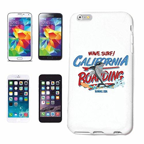 """cas de téléphone iPhone 6+ Plus """"EMBARQUEMENT CALIFORNIA WHITE HAI SURFING WAVE SURF attaque de requin Riffhai SURF ENSEIGNANT SURFBOARD SAIL"""" Hard Case Cover Téléphone Covers Smart Cover pour Apple i"""