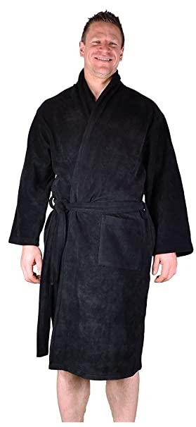 Black Mens Dressing Gown King Size