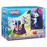 Fingerlings Playset See-Saw with 2 Fingerlings Baby Monkey Toys Willy (Blue) and Milly (Purple)