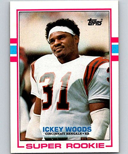Football NFL 1989 Topps #27 Ickey Woods RC Bengals