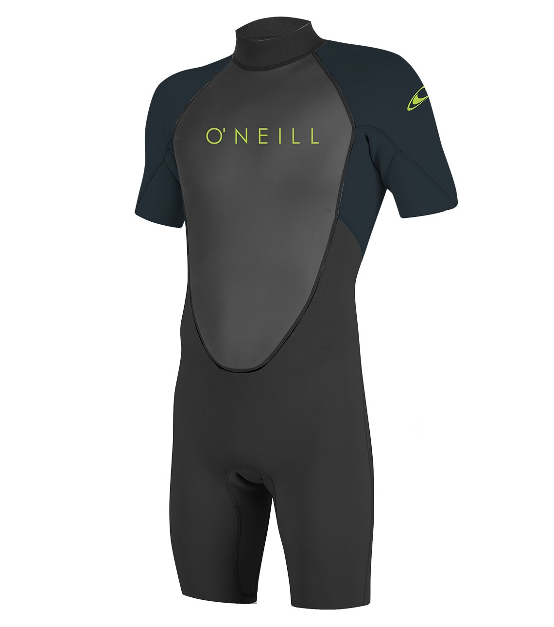 O'Neill Youth Reactor-2 2mm Back Zip Short Sleeve Spring Wetsuit, Black/Slate, 14 by O'Neill Wetsuits