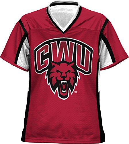 Women's Central Washington University Scramble Football Fan Jersey (Apparel)