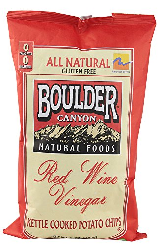 Boulder Canyon All Natural Gluten Free Kettle Chips Red Wine Vinegar -- 5 oz (Pack of 2)