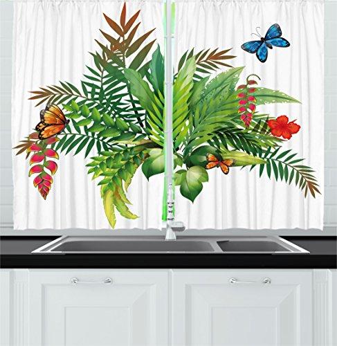 floral decor kitchen curtains