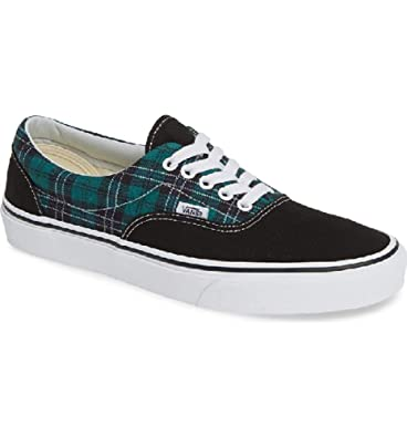 81648e6b5e Image Unavailable. Image not available for. Color  Vans Era Tartan Pack  Evergreen True White Men s Classic Skate Shoes Size 12