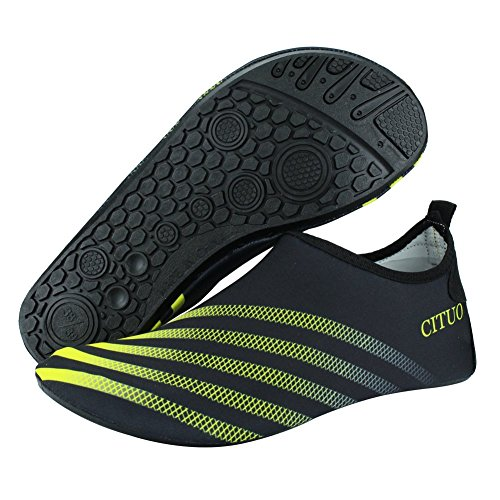 Women Camp Lightweight Pool Shoes Kids Men Sport Quick Beach Water Dry yellow SENFI Water S S4zxqfPw4