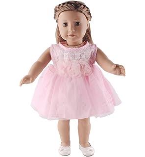 8cc968c70ff2 Dinglong 3Pcs  Set 18 inch American Girl Doll Clothing Set Fashion ...