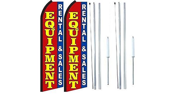 Equipment rental Standard Size  Swooper Flag banner  sign pk of 3