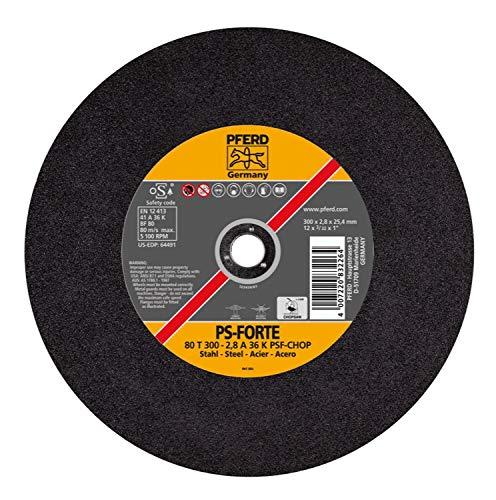 PFERD 64491 12'' x 3/32'' Chop Saw Wheel, 1'' AH A 36 K PSF-CHOP (20pk)