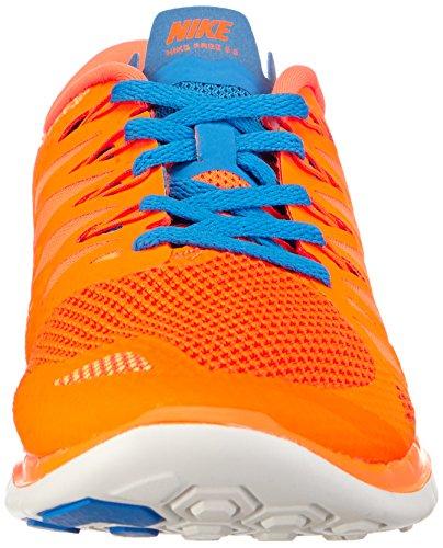 Nike Mænds Fri 5,0 Løbesko Orange / Blå / Hvid
