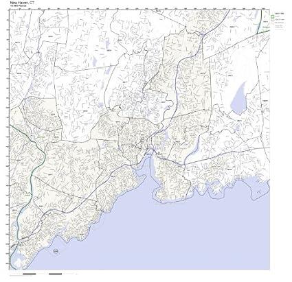 New Haven Zip Code Map.Amazon Com New Haven Ct Zip Code Map Laminated Home Kitchen