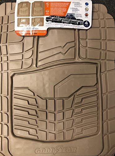 Goodyear Semi-Custom Trim-to-Fit car mats - Tan 4 Piece