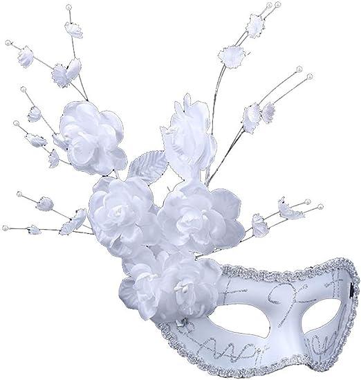 Hosaire 1x Máscara,Navidad Halloween Flores Blancas Mujeres ...