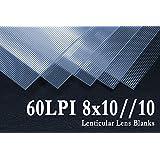 8x10//10 3D Lenticular Lens Blanks w/ Instructions (Qty: 10)