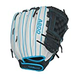 "Wilson WTA08RF1612 Aura Game Ready Fastpitch Softball Gloves, Ivory/Electric Blue, 12"", Right Hand Throw"