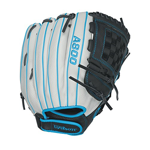Wilson Aura Game Ready Fastpitch Softball Gloves, Ivory/Electric Blue, 12