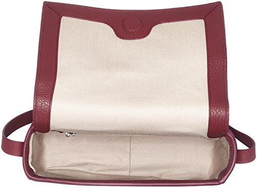HUGO - Nynka-r 10195833 01, Shoppers y bolsos de hombro Mujer, Rot (Dark Red), 7x15x19 cm (B x H T)