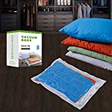 vacuum bag sealer for clothes - MRSBAG Vacuum Storage Bags 3 XLarge(48 x 32-Inch) + 2 Large(32 x 24-Inch) + 2 Medium(28 x 20-Inch) + 1 Small Hand Roll (24 x 16-Inch) Double Zip 8 Pack Seal Space Saver Bags with Free Hand Double-Pump