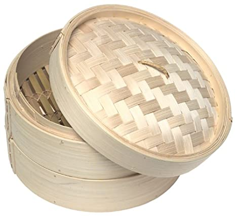 e06883036 Amazon.com: Norpro 1963 bamboo steamer, One Size: Bmboo Steamer: Kitchen &  Dining