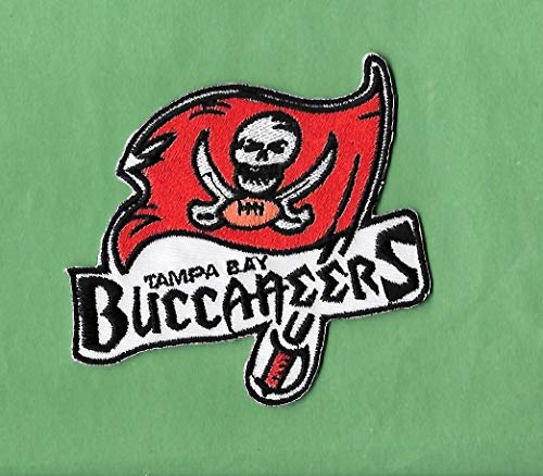Iron On Embroidered Patch Top Quality New Tampa Bay Bucs Name Iron on, 3 X 3 1/2