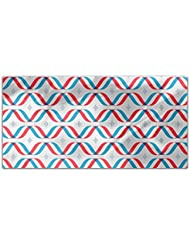 Macro Waves Tricolor Rectangle Tablecloth Large Dining Room Kitchen Woven Polyester Custom Print